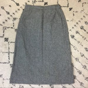 Pendleton skirt sz 12 gray pinstripe professional